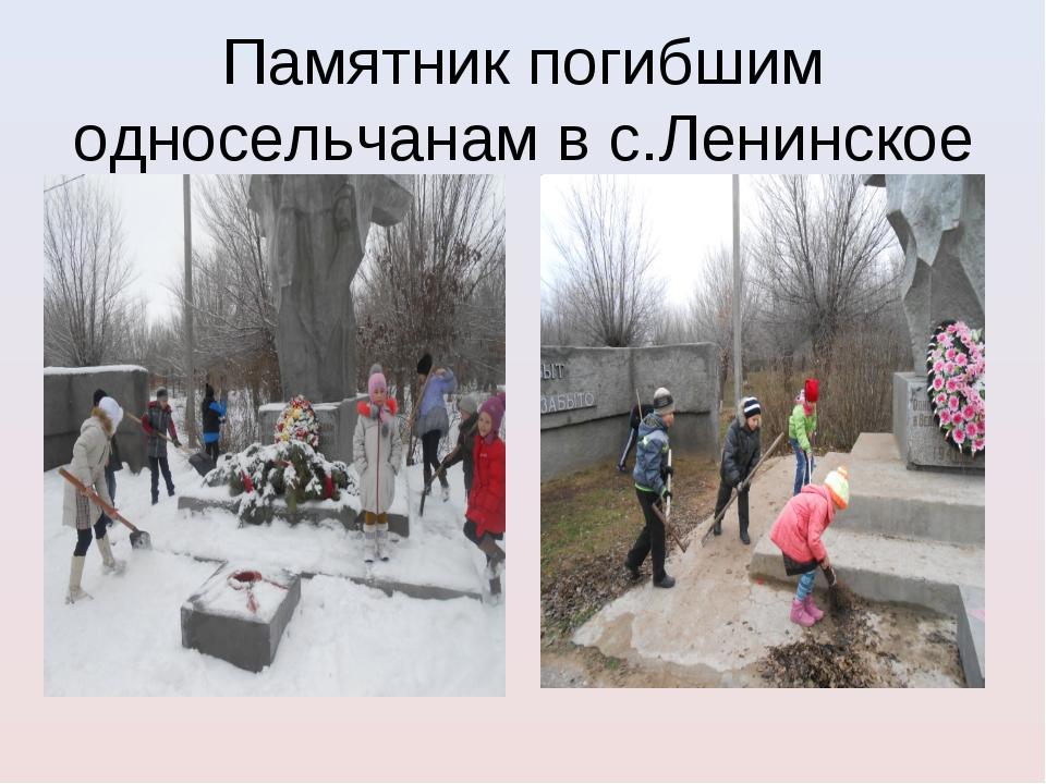 Памятник погибшим односельчанам в с.Ленинское