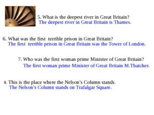 8. This is the place where the Nelson's Column stands. 7. Who was the first w