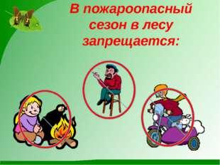 В пожароопасный сезон в лесу запрещается: