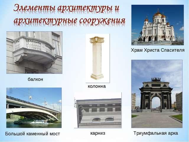 балкон Большой каменный мост колонна карниз Храм Христа Спасителя Триумфальна...