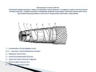 1 — алюминиевые токопроводящие жилы, 2 и 4 — жильная и поясная бумажная изол