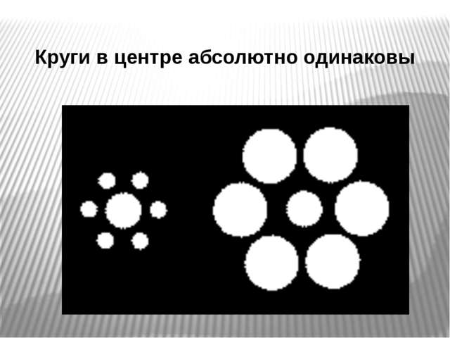 Круги в центре абсолютно одинаковы