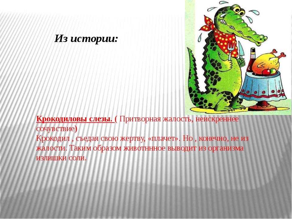 Крокодиловы слезы. ( Притворная жалость, неискреннее сочувствие) Крокодил , с...