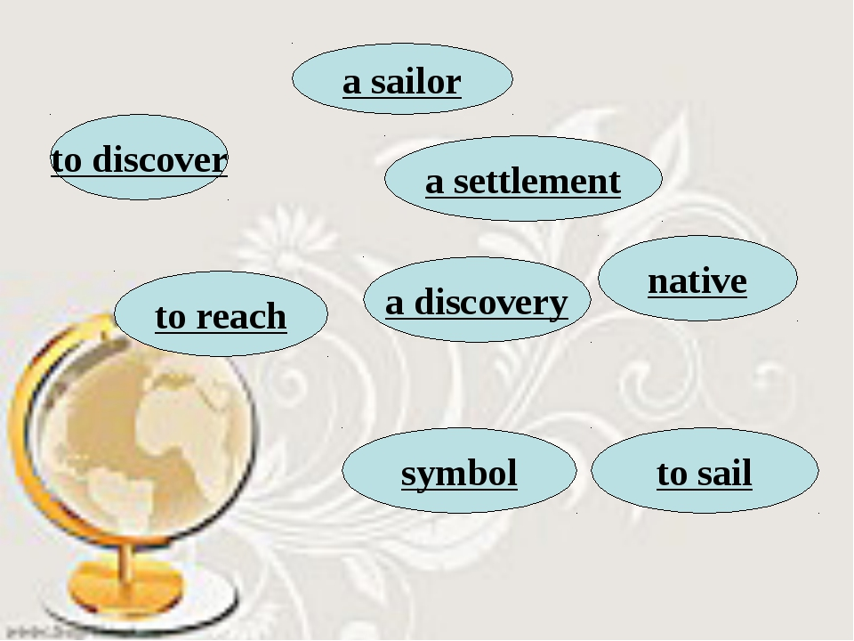to discover a discovery a settlement to sail symbol native to reach a sailor