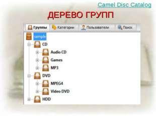 ДЕРЕВО ГРУПП Camel Disc Catalog