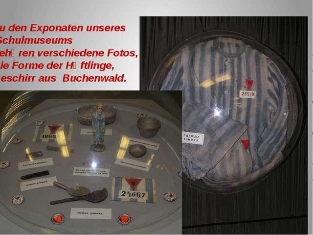Zu den Exponaten unseres Schulmuseums gehӧren verschiedene Fotos, Die Forme d...