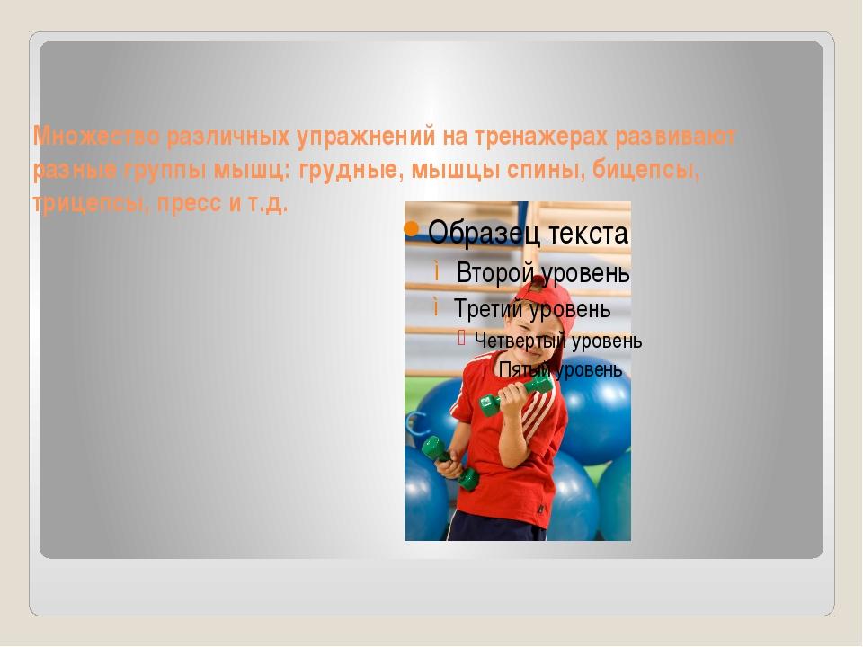 Занятия атлетической гимнастикой позволяют развить у детей физические качеств...