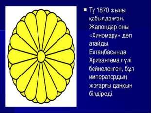 Ту 1870 жылы қабылданған. Жапондар оны «Хиномару» деп атайды. Елтаңбасында Хр