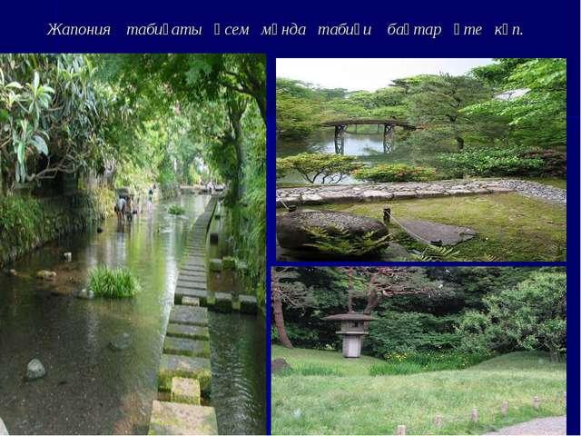 Жапония табиғаты әсем мұнда табиғи бақтар өте көп.