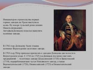 Инициатором строительства первых горных заводов на Урале выступала казна. Но