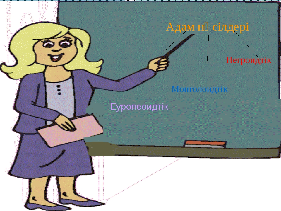 Адам нәсілдері Еуропеоидтік Монголоидтік Негроидтік