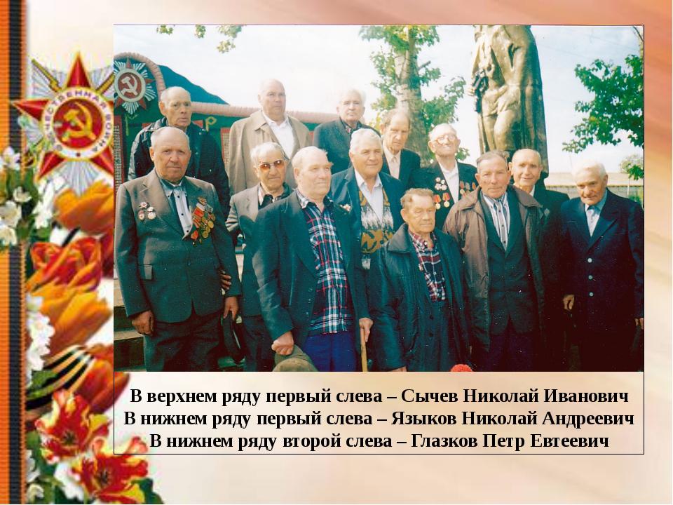 В верхнем ряду первый слева – Сычев Николай Иванович В нижнем ряду первый сле...