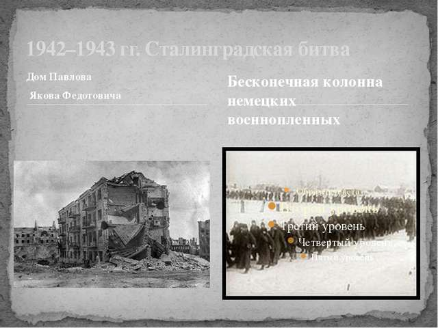 Дом Павлова Якова Федотовича 1942–1943 гг. Сталинградская битва Бесконечная к...