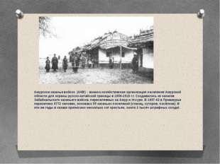 Амурское казачье войско (АКВ) – военно-хозяйственная организация населения А