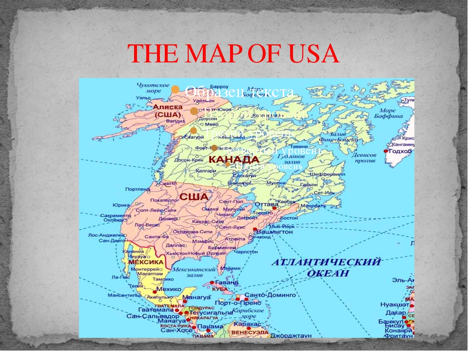THE MAP OF USA