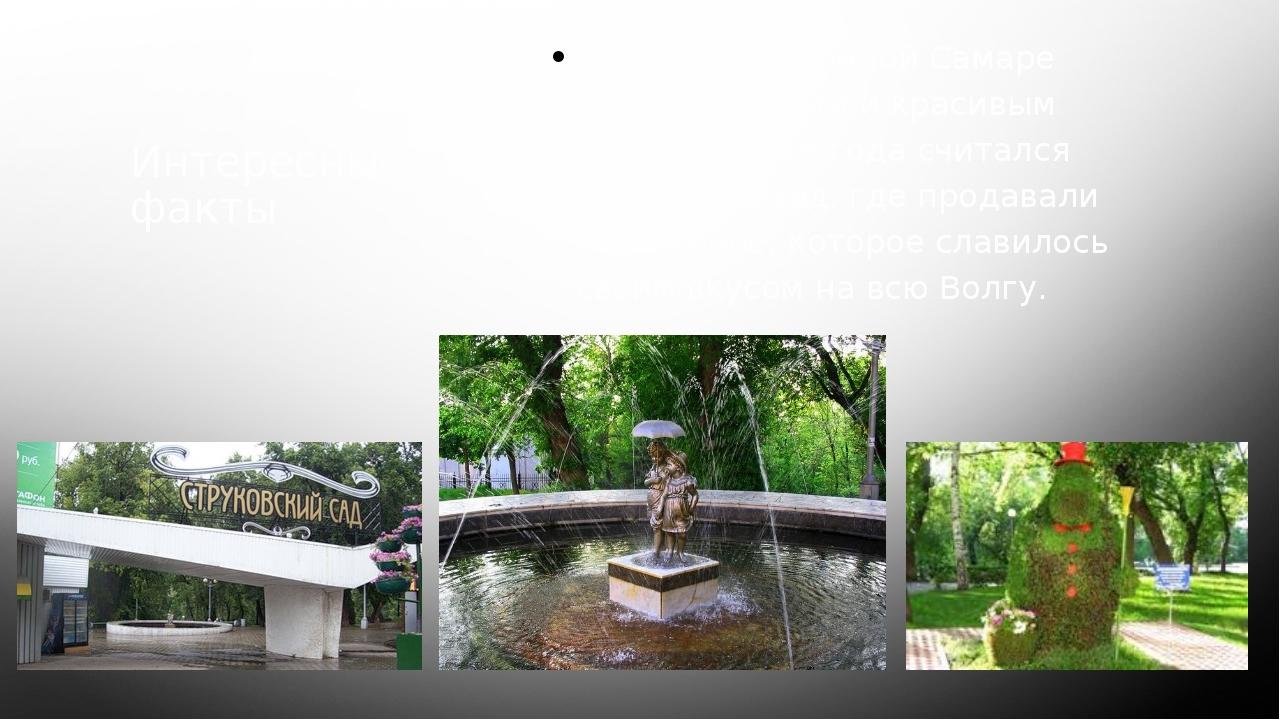 Интересные факты В дореволюционной Самаре самым большим и красивым парком с 1...