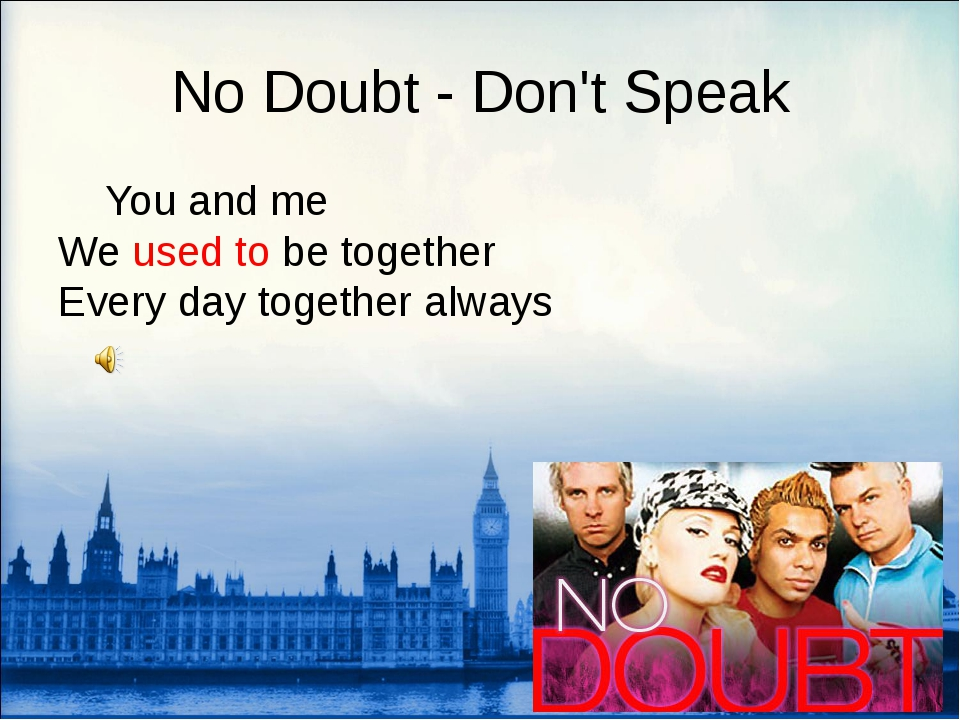 No Doubt - Don't Speak 	You and me We used to be together Every day together...