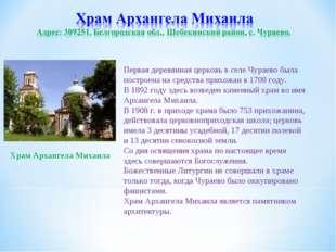 Первая деревянная церковь в селе Чураево была построена на средства прихожан