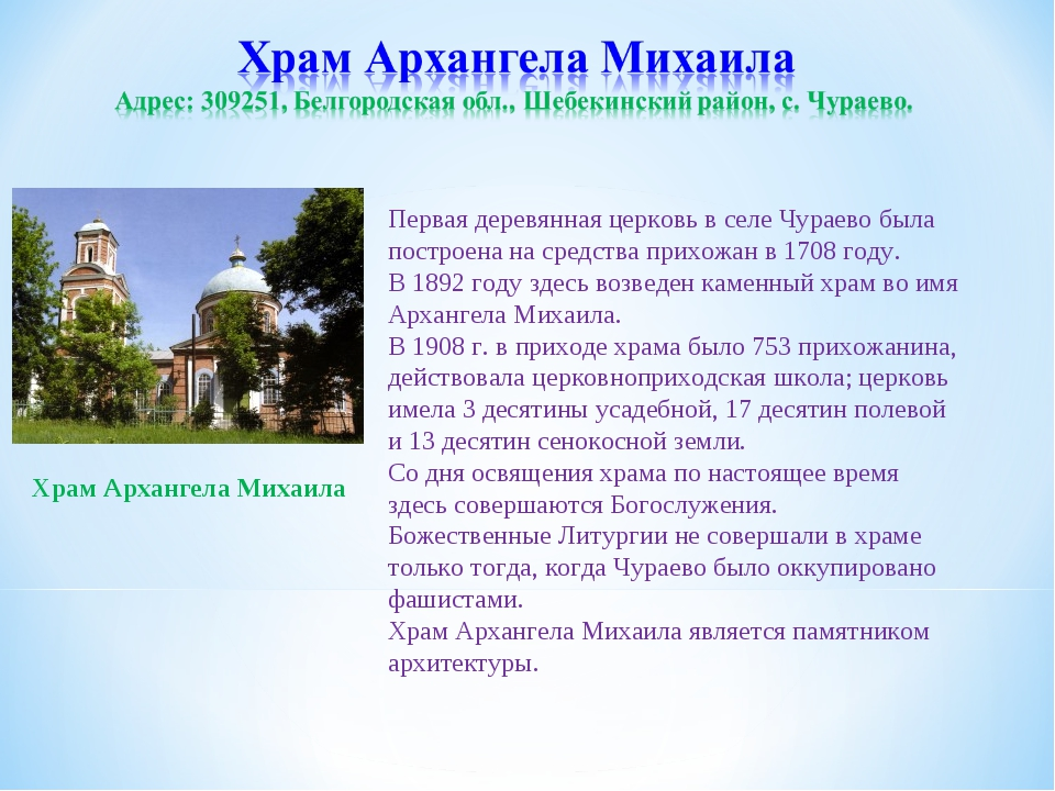 Первая деревянная церковь в селе Чураево была построена на средства прихожан...