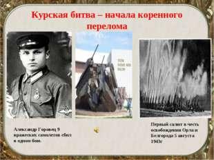 Александр Горовец 9 вражеских самолетов сбил в одном бою. Первый салют в чест
