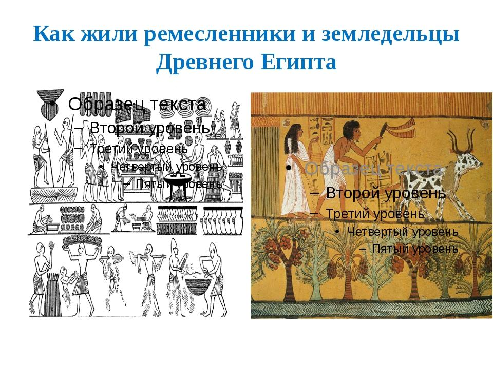 Как жили ремесленники и земледельцы Древнего Египта