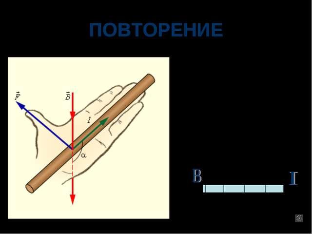ПОВТОРЕНИЕ По правилу «левой руки» определите, в какую сторону будет двигатьс...
