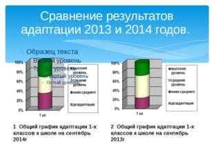 Сравнение результатов адаптации 2013 и 2014 годов. 1 Общий график адаптации 1