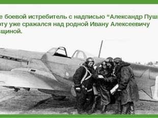 """Вскоре боевой истребитель с надписью """"Александр Пушкин"""" на борту уже сражалс"""