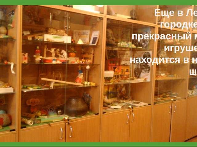 Еще в Лесном городке есть прекрасный музей игрушек. Он находится в нашей шко...