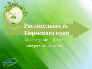 Растительность Пермского края Краеведение 1 класс внеурочное занятие