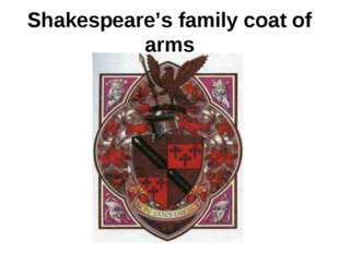 Shakespeare's family coat of arms