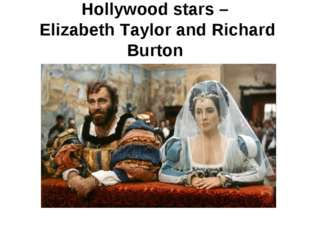 Hollywood stars – Elizabeth Taylor and Richard Burton