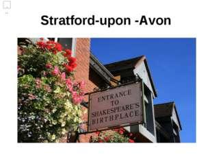 Stratford-upon -Avon