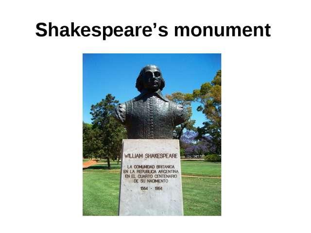 Shakespeare's monument