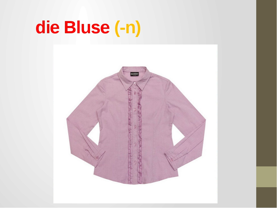 die Bluse (-n)