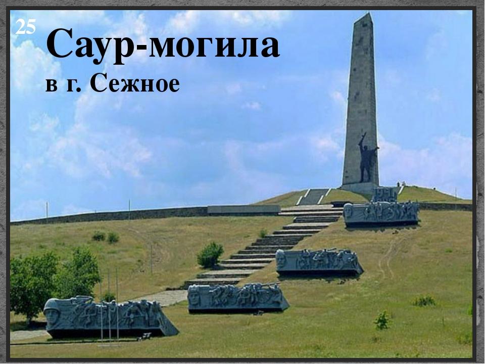 25 Саур-могила в г. Сежное