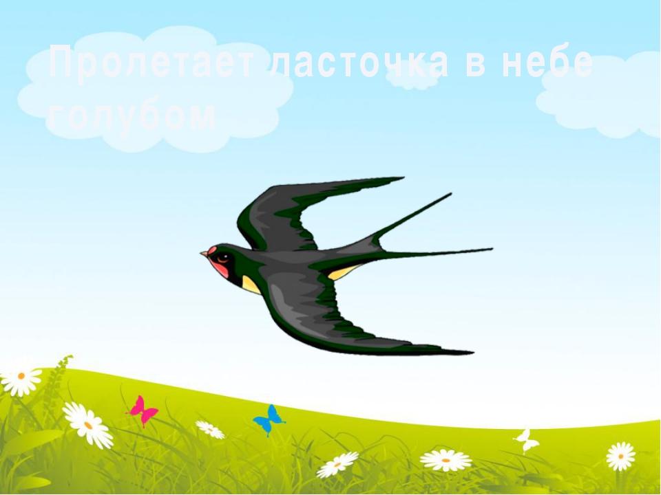 Пролетает ласточка в небе голубом