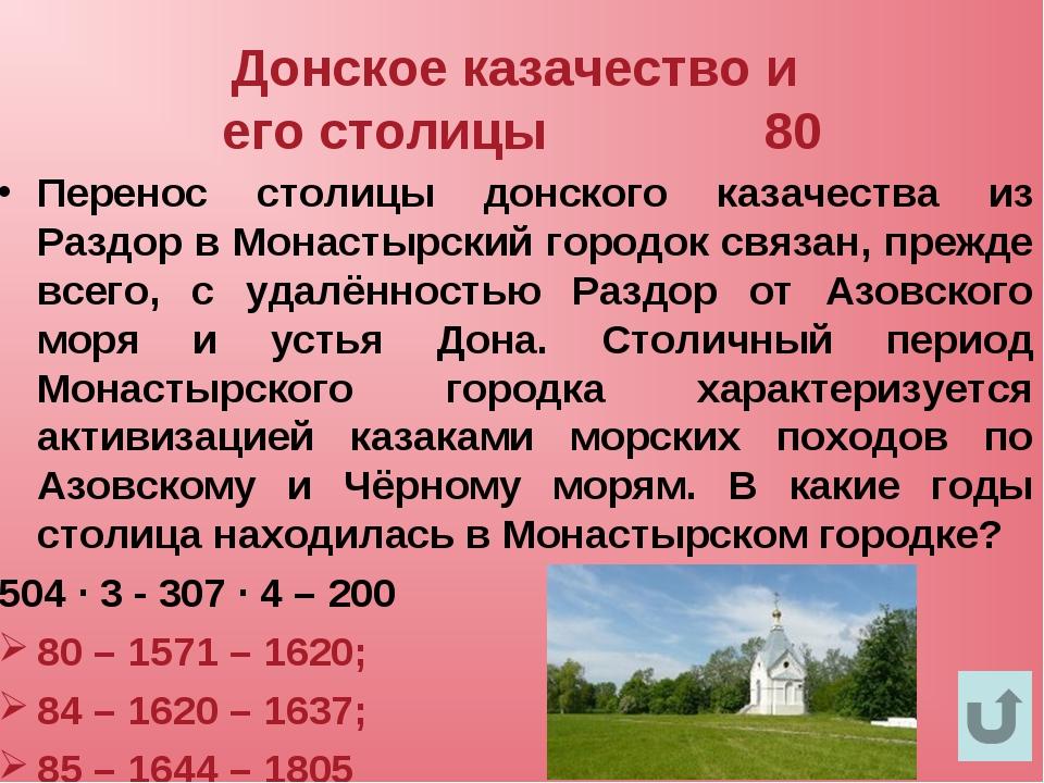 Донское казачество и его столицы 80 Перенос столицы донского казачества из Ра...