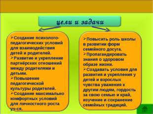 Создание психолого-педагогических условий для взаимодействия детей и родителе