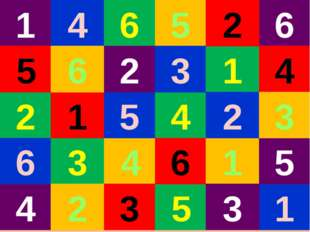 3 6 5 4 1 1 1 1 1 4 4 4 4 2 2 2 2 5 5 5 5 3 3 3 3 6 6 6 6 2