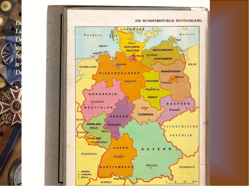 Betrachtet die Landkarte von Deutschland und nennt die Nachbarstaaten von Deu...