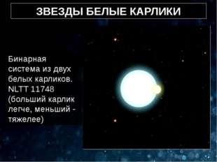 ЗВЕЗДЫ БЕЛЫЕ КАРЛИКИ Бинарная система из двух белых карликов. NLTT 11748 (бол