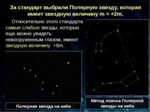 Относительно этого стандарта самые слабые звезды, которые еще можно увидеть н