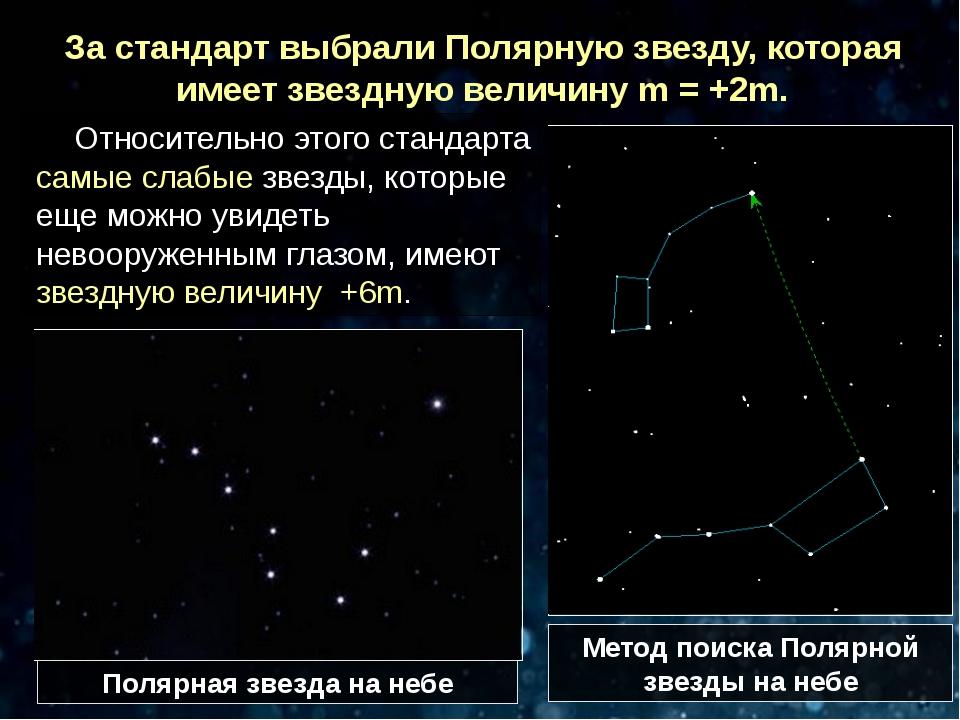 Относительно этого стандарта самые слабые звезды, которые еще можно увидеть н...