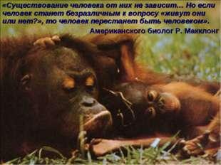 * «Существование человека от них не зависит… Но если человек станет безразлич