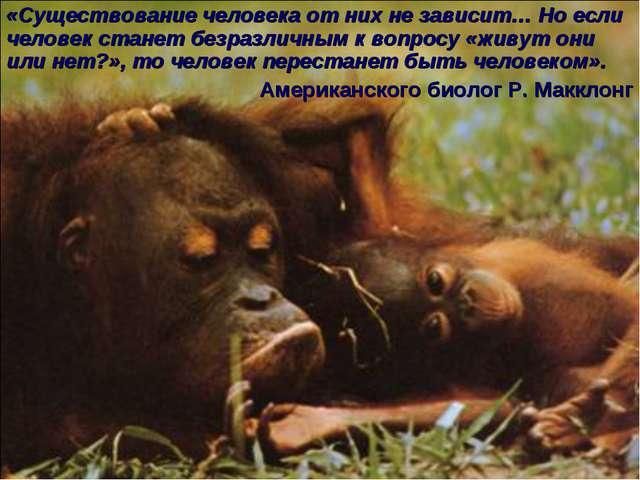 * «Существование человека от них не зависит… Но если человек станет безразлич...