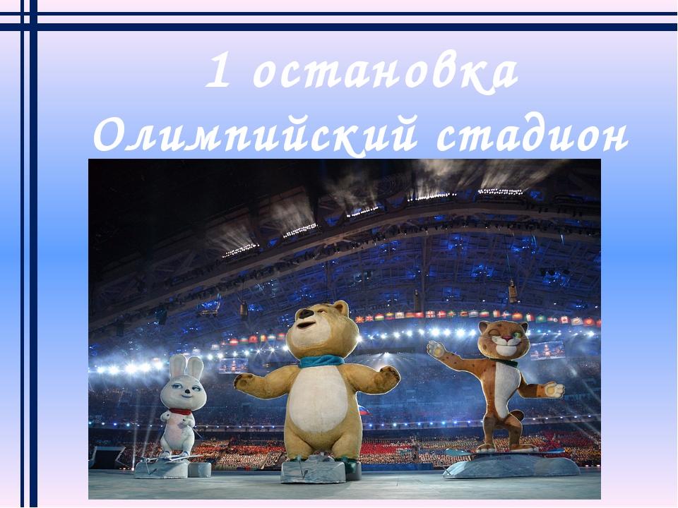1 остановка Олимпийский стадион «Фишт»