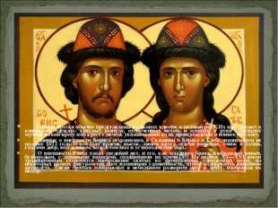 Святые братья обычно представлены на иконах вдвоём, в полный рост. Их изобра