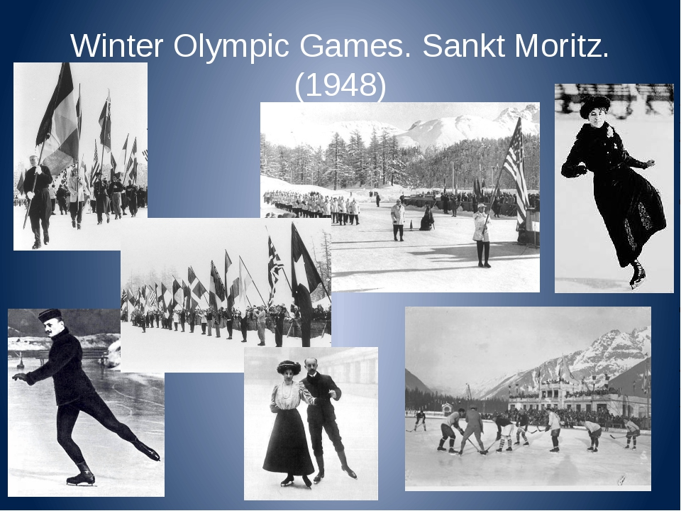 Winter Olympic Games. Sankt Moritz. (1948)