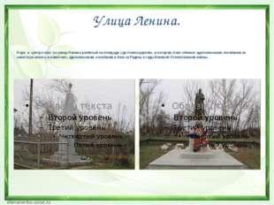 Улица Ленина. Парк в центре села по улице Ленина разбитый на площади ,где сто